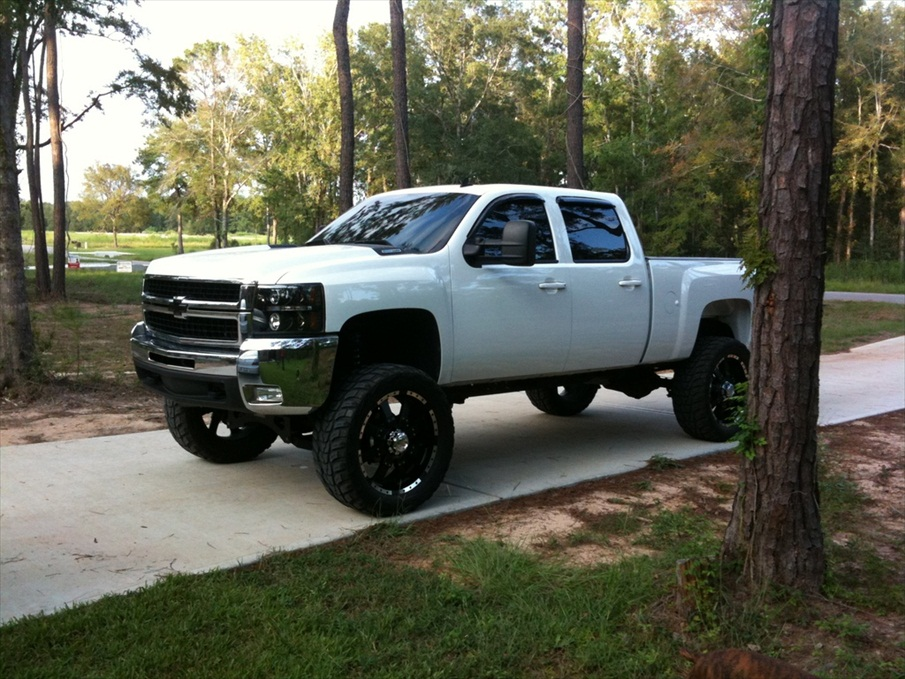 silver silverado lifted images - photo #36
